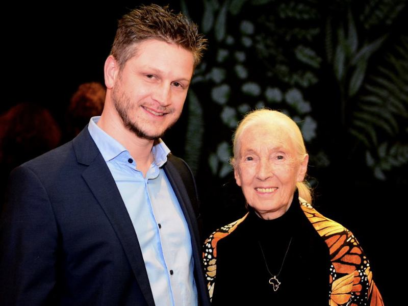 Koen Timmers and Jane Goodall